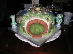 Hobbit Hole Birthday Cake by theoneringnet, via Flickr