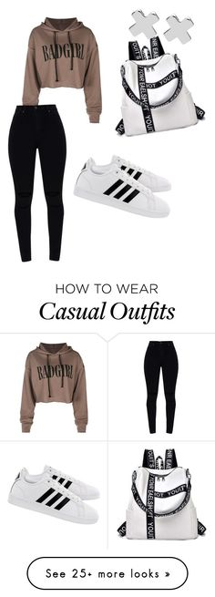 """""""College Casual"""" by brutalbellexoxo on Polyvore featuring adidas and Witchery"""