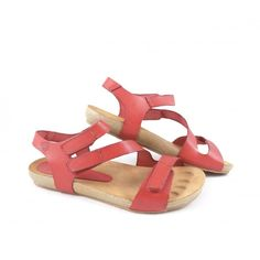 d3a797ef515f Women s Yokono Ibiza 102 Flat Sandals with Two  adjustabvle Straps in Red  Leather - buy online today at rubyshoesday with FREE UK delivery!