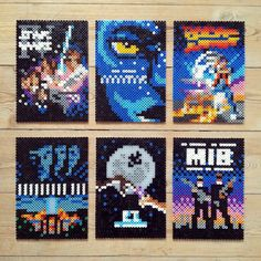 Sci-fi movie covers hama perler beads by Jakob H. Dinesen