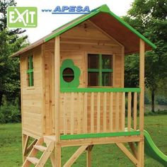 Exit Spielhaus Loft 500 Stelzenhaus von APESA Shed, Loft, Outdoor Structures, Outdoor Decor, Design, House, Home Decor, Wooden Playhouse, Games