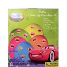 Disney Cars Easter Egg Decorating Kit (Toy) http://www.amazon.com/dp/B004O27DDC/?tag=mnnean-20 B004O27DDC