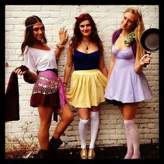 Diy homemade rapunzel tangled halloween costume for adultswomen disney princess halloween costumes esmerelda snow white and rapunzel solutioingenieria Images