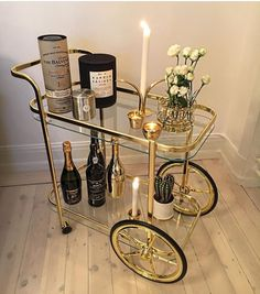 This design but either tarnished, black, or something more matte Home Interior Design, Interior Decorating, Bar Cart Decor, Home Decor Inspiration, Decoration, Bedroom Decor, House Design, House Styles, Future
