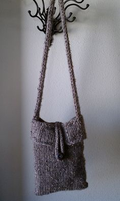 Loom Knit Bucket Bag pattern