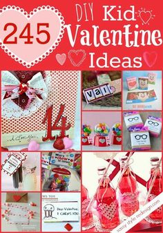245 DIY Kid #Valentine Ideas!