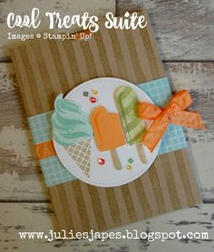 Julie Kettlewell - Stampin Up UK Independent Demonstrator - Order products 24/7: Cool Treats Pocket Card