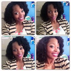 Natural hair protective style: crochet braids with kanekalon hair curled with perm rods
