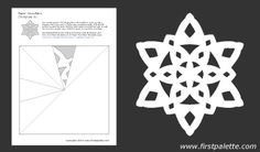 Paper snowflake template 9