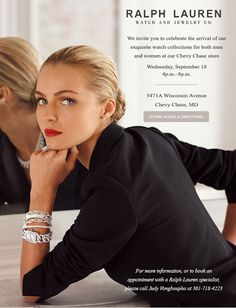 Introducing Ralph Lauren Fine Watches At Our Chevy Chase Store