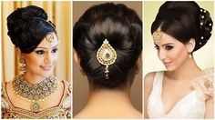 Indian bun hairstyles for medium hair | Traditional hairstyles for india...