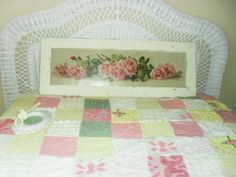 Shabby Chic Yard Long Rose Print Picture with by ShuggiesAttic, $78.00