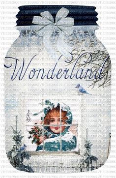 Serendipity Designs Vintage Jars Winter Wonderland Perfect For Baked Goods Gifting