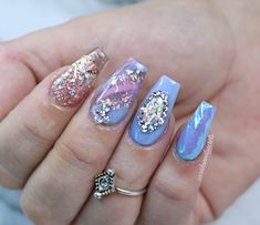 Opal unicorn nails