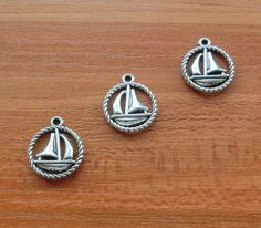 15pcs Sailboat Sailing Boat Charms Antique Silver by lovefinding