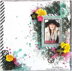 "Di's Creative Space: ""Smile""A Layouts PLUS A Video Tutorial For Lindys Stamp Gang June Challenge"