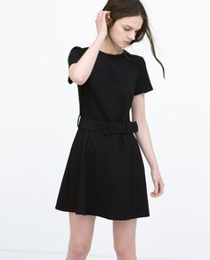 Image 2 of FAUX LEATHER PIPED DRESS from Zara