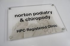 medical office door signs for your registered clinic quality acrylic