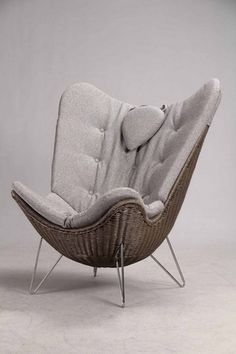 Knud Vinther. Corollo.dk 4 easy chair, dark nougat natural rattan | Lauritz.com