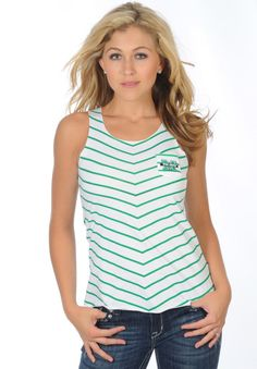 4e775b8f9f3 Marshall Diagonal Striped Tank - University Girls Apparel University Girl