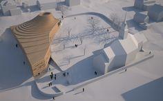 Neue Landschaft aus Holz - Snøhetta planen norwegische Kirche