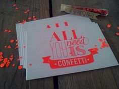 Kaart All You Need is Confetti | ♥ New in shop | Dreamkey Design