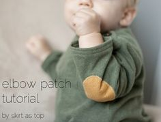 elbow patch tutorial :: skirt as top