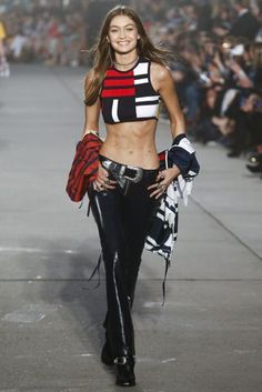 Gigi Hadid | NYFW Tommy Hilfiger Spring/Summer 2017 Ready To Wear Collection | British Vogue