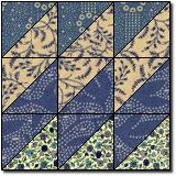 """Slanted Diamonds from Quilter's Cache Another good use for """"sewing between the lines"""" blocks"""