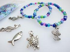 Bastelpackung Armbänder  Meerjungfrauengeburtstag von ~*~ AINIKKIS KINDERREICH ~*~ auf DaWanda.com