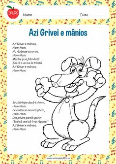 Azi Grivei e manios Motor Skills Activities, Activities For Kids, Romanian Language, Circle Time, Teaching Materials, Preschool Learning, Nursery Rhymes, Kids And Parenting, Art For Kids