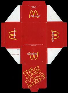 McDonald's - Big Mac sandwich box - 1974, via Flickr.