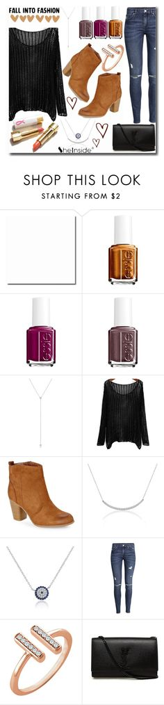 """""""Fall into fashion"""" by mlgjewelry ❤ liked on Polyvore featuring Essie, Madden Girl, H&M and Yves Saint Laurent"""