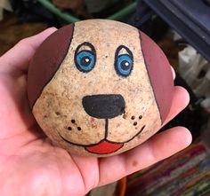 Painted Rock Dog I think this would work well with paint pens