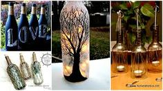 20 Wine Bottle Projects You Can Start Anytime Bottle Cutter, Tiki Torches, Painted Wine Bottles, Black And White Portraits, Wine Bottle Crafts, Bedroom Art, Wall Patterns, Project Yourself, House Painting