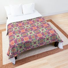 'California' Comforter by Arrowsmith Design College Dorm Rooms, Square Quilt, Twin Xl, Quilt Patterns, Comforters, California, Pillows, Printed, Bedroom
