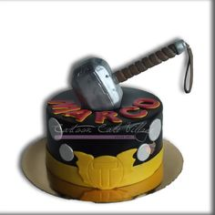Thor Hammer's cake - Cake by Eliana Cardone - Cartoon Cake Village