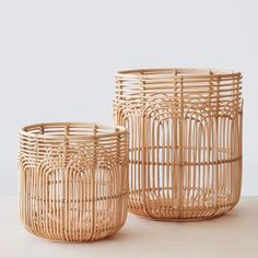 medium and large rattan woven baskets