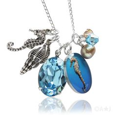 Jewels of the Ocean Seahorse Necklace