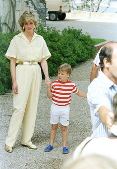 Princess Diana and Prince William - 1987