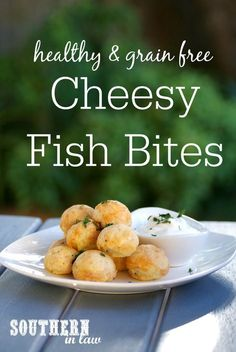 Grain Free Cheesy Fish Bites Recipe - low fat, low carb, lent recipes, gluten free, high protein, healthy fish recipes, cake pop maker recipes, clean eating