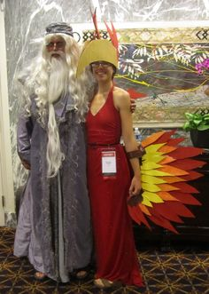 Dumbledore and Fawkes, LeakyCon 2012