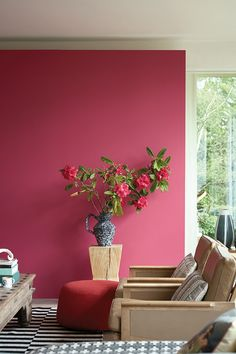 Farrow & Ball tapped design firm Roman and Williams to launch 16 new paint shades, inspired by the Natural History Museum in London. See the new paint colors here. Pink Paint Colors, Wall Colors, House Colors, Colours, Colors Of Red, Red Colour, Farrow Ball, Living Room Paint, My Living Room