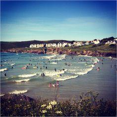 Many a family holiday at Polzeath, Cornwall.