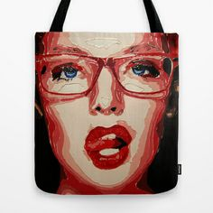 Office style Tote Bag by AsyaCreativeArt - $22.00