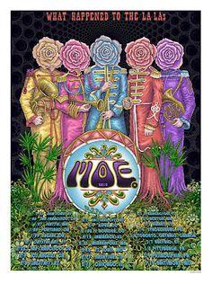 MOE. What Happened to the La La's Tour Poster by EMEK
