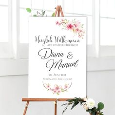 """Wedding sign """"Welcome"""" white - Chalkboards - Chalkboard Designs, Chalkboard Art, Let There Be Love, Reiki Symbols, Reception Signs, Welcome To Our Wedding, Invitation, Personalized Wedding, Wedding Signs"""