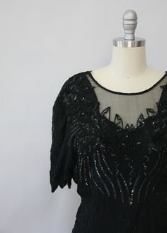 vintage sheer cut beaded blouse WITH TAGS by XhereliesbootsX