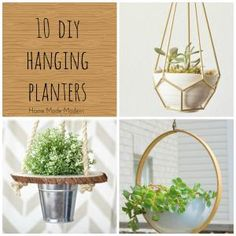 You can make a simple and trendy macrame vase holder in ten minutes with just a few basic supplies and this step-by-step tutorial.: More Hanging Planters