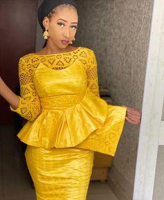 African Wear, African Attire, African Dress, African Inspired Fashion, African Fashion Dresses, Unique Ankara Styles, Peplum Dress, Style Inspiration, Outfits